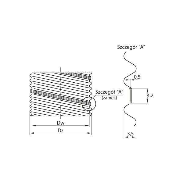 dodatki przewod elastyczny aluminiowy flex rysunek