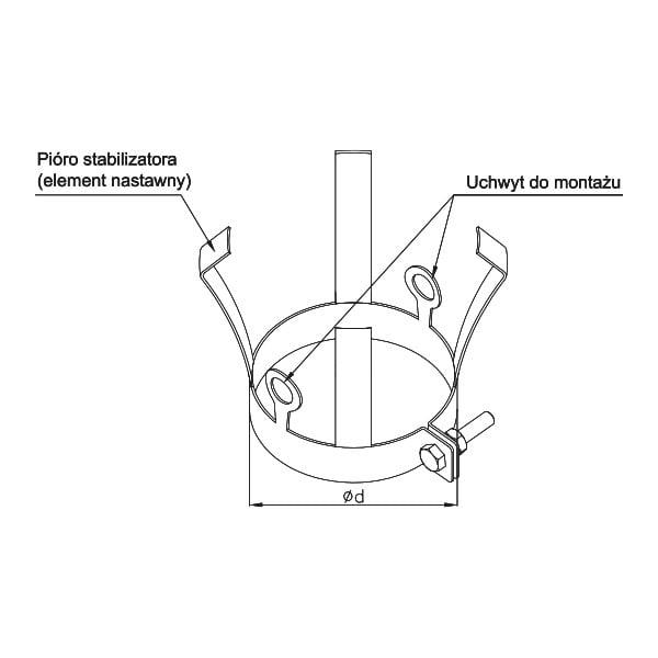 kf element stabilizujaco montazowy rysunek