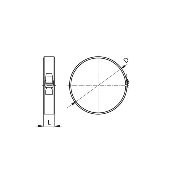 kominy kf zacisk montazowy rysunek 1